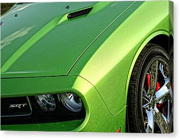 2011 Dodge Challenger Srt8 - Green With Envy Canvas Print by Gordon Dean II