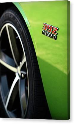 2012 Dodge Challenger 392 Hemi - Green With Envy Canvas Print by Gordon Dean II