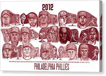 2012 Philadelphia Phillies Canvas Print by Chris  DelVecchio