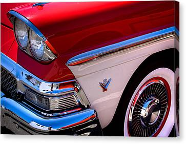 1958 Ford Fairlane Skyliner Convertible Canvas Print by David Patterson