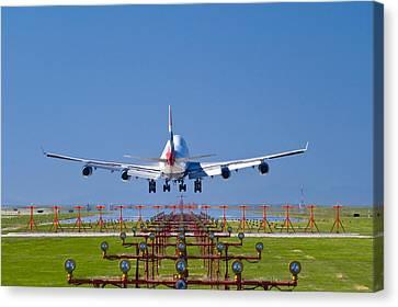 Aeroplane Landing, Canada Canvas Print by David Nunuk