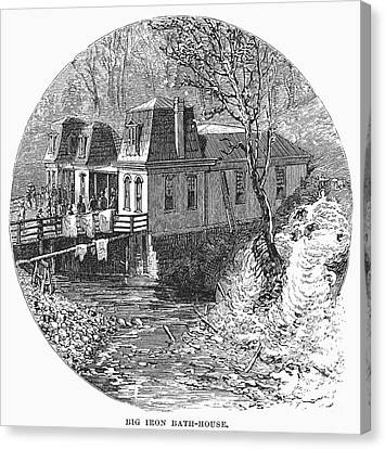 Arkansas: Hot Springs, 1878 Canvas Print by Granger