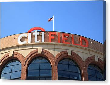 Citi Field - New York Mets Canvas Print by Frank Romeo