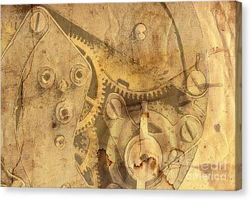 Clockwork Mechanism Canvas Print by Michal Boubin