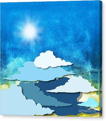 Cloud And Sky Canvas Print by Setsiri Silapasuwanchai