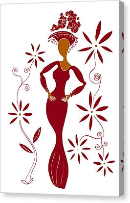 Fashion Illustration Canvas Print by Frank Tschakert