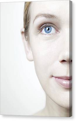 Healthy Woman's Face Canvas Print by