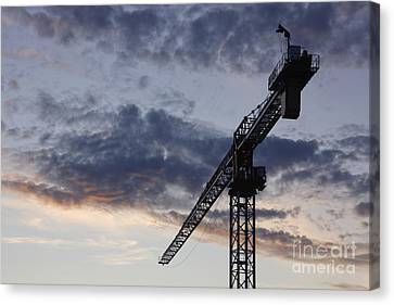 Industrial Crane Canvas Print by Jeremy Woodhouse