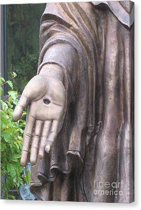Jesus - Christian Art - Religious Statue Of Jesus Canvas Print by Kathy Fornal