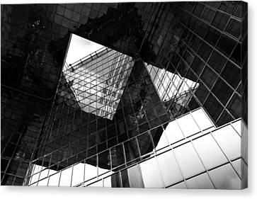 London Southbank Abstract Canvas Print by David Pyatt