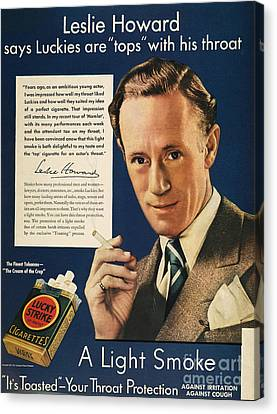 Lucky Strike Cigarette Ad Canvas Print by Granger