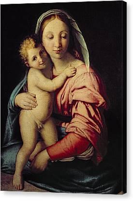 Madonna And Child Canvas Print by Il Sassoferrato