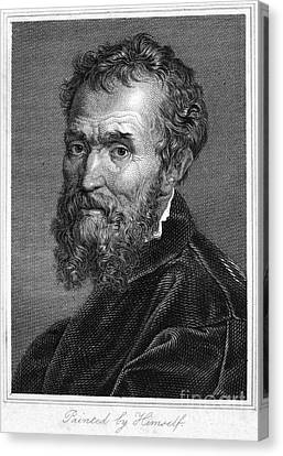 Michelangelo (1475-1564) Canvas Print by Granger