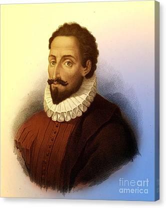 Miguel De Cervantes, Spanish Author Canvas Print by Photo Researchers