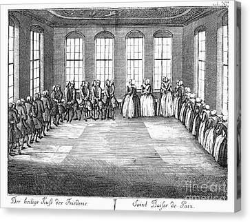 Moravians, 1757 Canvas Print by Granger