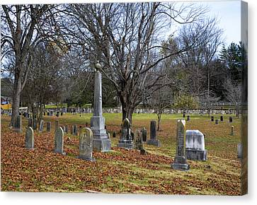 Pleasant Forest Cemetery Canvas Print by Paul Mashburn