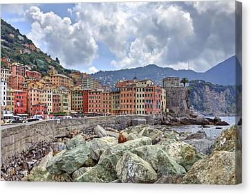 Port Of Camogli Canvas Print by Joana Kruse