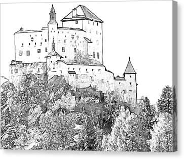 Schloss Tarasp Switzerland Canvas Print by Joseph Hendrix