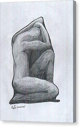Sketch Canvas Print by Safa Al-Rubaye