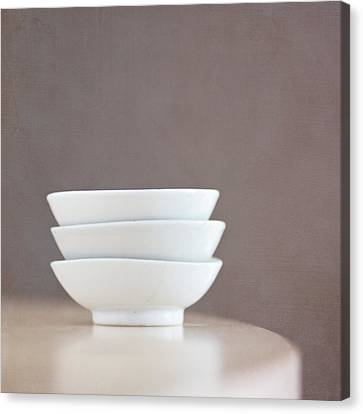 3 Stacked Bowls Canvas Print by Pamela N. Martin