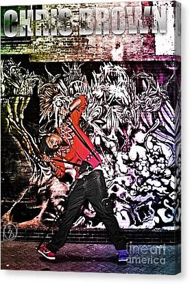 Street Phenomenon Chris Brown Canvas Print by The DigArtisT