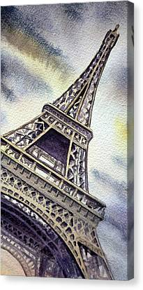 The Eiffel Tower  Canvas Print by Irina Sztukowski