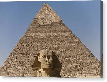 The Sphinx Stands In Front Of The Great Canvas Print by Taylor S. Kennedy