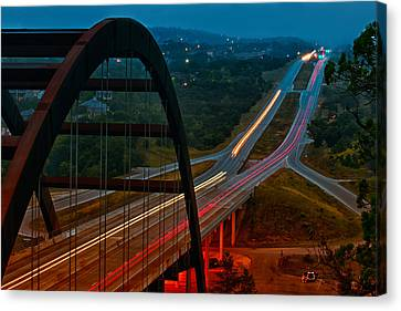 360 Bridge Morning Traffic Canvas Print by Lisa  Spencer