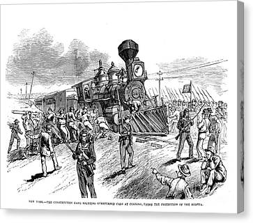 Great Railroad Strike, 1877 Canvas Print by Granger