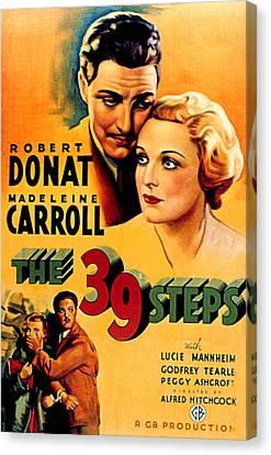 39 Steps, The, Robert Donat, Madeleine Canvas Print by Everett