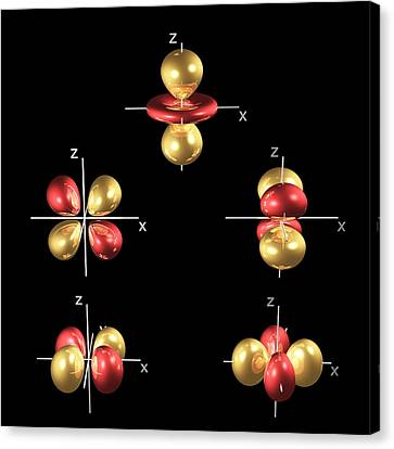 3d Electron Orbitals Canvas Print by Dr Mark J. Winter