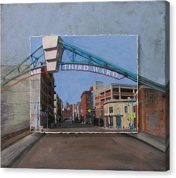 3rd Ward Entry Layered Canvas Print by Anita Burgermeister