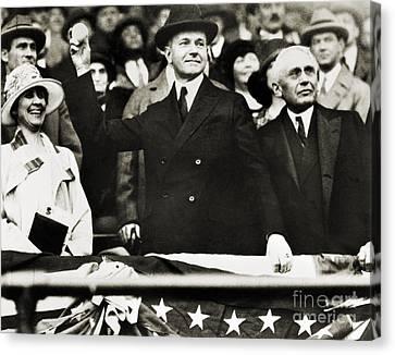 Calvin Coolidge (1872-1933) Canvas Print by Granger