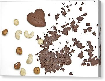 Chocolate Heart Canvas Print by Joana Kruse