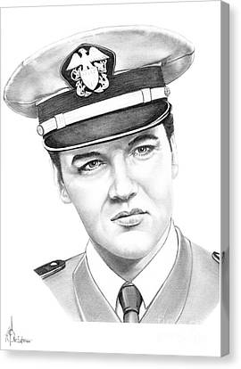 Elvis Presley Canvas Print by Murphy Elliott