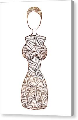Fashion Sketch Canvas Print by Frank Tschakert