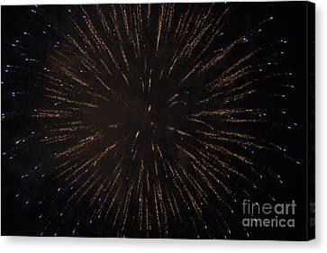 Fireworks Canvas Print by Juan  Silva