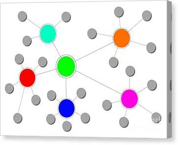 Network Canvas Print by Henrik Lehnerer