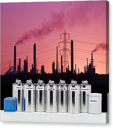 Oil Products Canvas Print by Paul Rapson