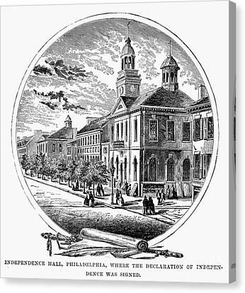 Philadelphia State House Canvas Print by Granger
