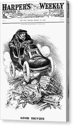 Roosevelt Cartoon, 1906 Canvas Print by Granger