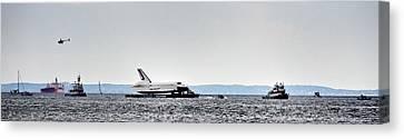 Shuttle Enterprise Canvas Print by Roni Chastain