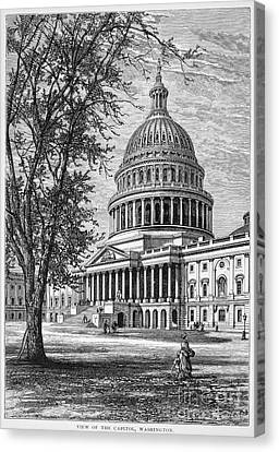 U.s. Capitol Canvas Print by Granger