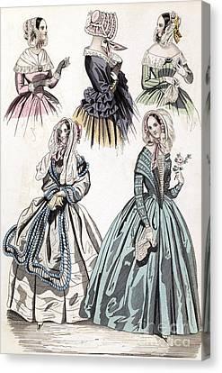 Womens Fashion, 1842 Canvas Print by Granger