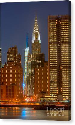 42nd Street Buildings At Twilight I Canvas Print by Clarence Holmes
