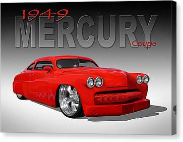 49 Mercury Coupe Canvas Print by Mike McGlothlen
