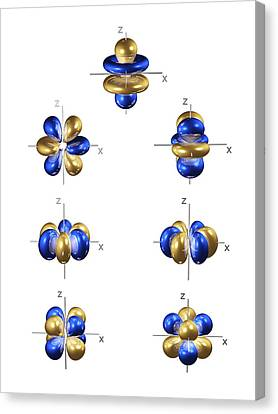 4f Electron Orbitals, General Set Canvas Print by Dr Mark J. Winter
