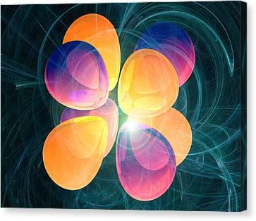 4f2 Electron Orbital Canvas Print by Laguna Design
