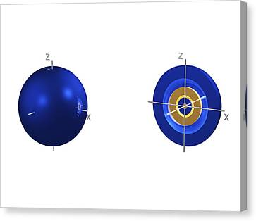 4s Electron Orbital Canvas Print by Dr Mark J. Winter