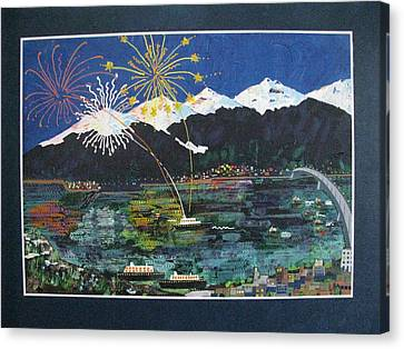 4th Of July In Juneau Alaska Canvas Print by Sunny Eccleston
